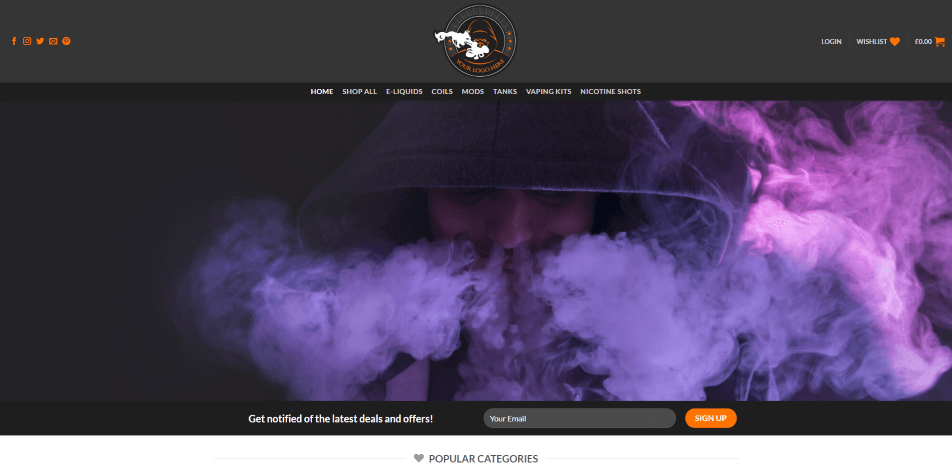 UK Vape Product Business Domain And Hosting Including Website
